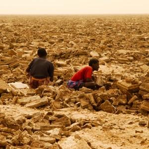 salt plain excavation ethiopia
