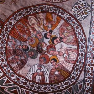 Tigray rock hwn church ethiopia painting