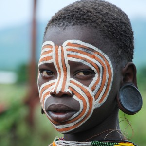 Surma face painting tribe ethiopia