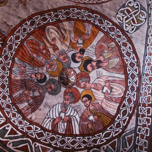 Tigray rock hwn church ethiopia painting