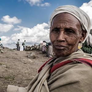amhara woman walking