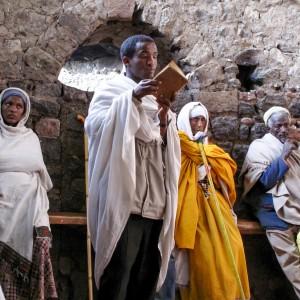 Fedeli della chiesa ortodossa etiope