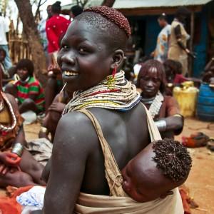 Kara tribe village